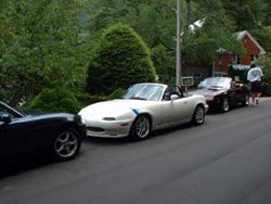 Miatas at the Gap