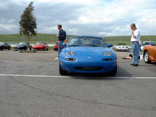 Miatas at Thunderhill